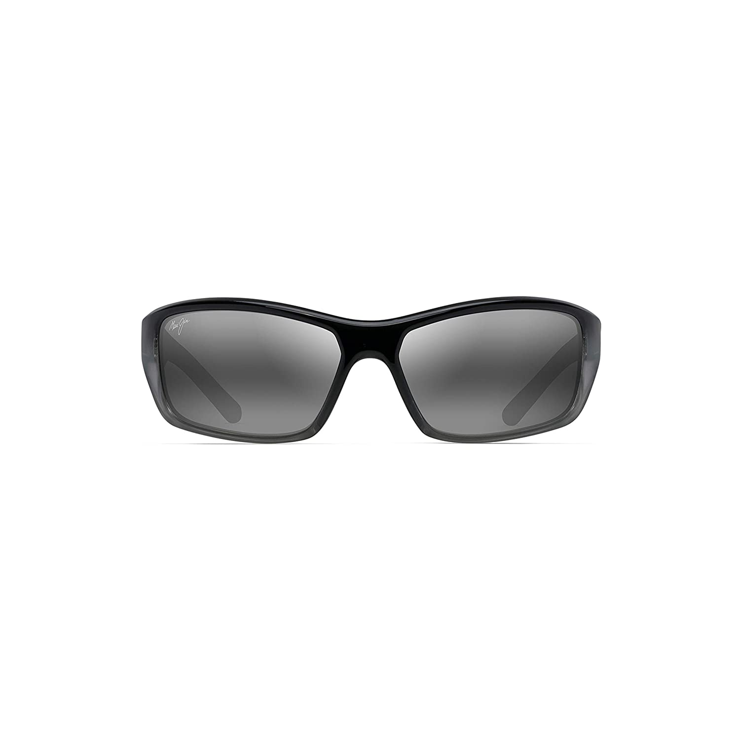49e6c0d8aaa6 Amazon.com: Maui Jim Barrier Reef 792-14C   Polarized Black with Silver and  Grey Wrap Frame Sunglasses, Neutral Lenses, with with Patented  PolarizedPlus2 ...