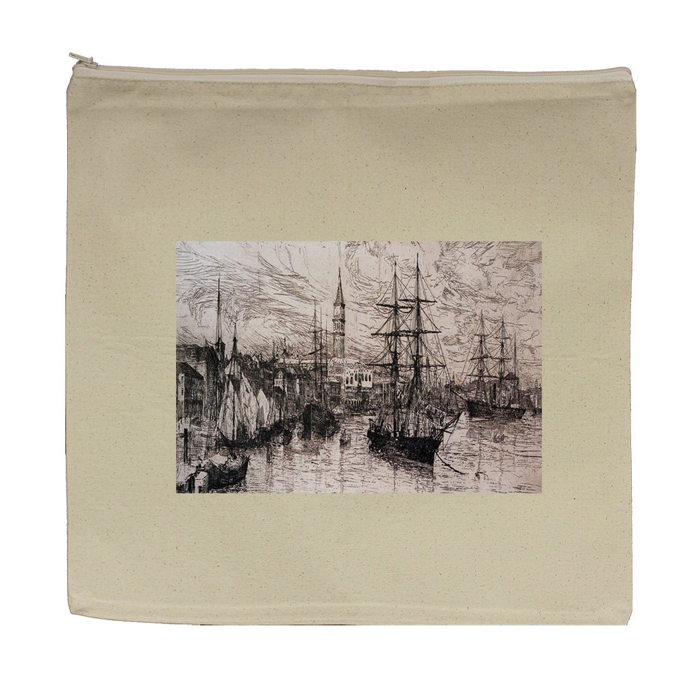 View From Whistlers Window (Whistler) Canvas Zipper Tote Bag Makeup Bag