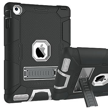 BENTOBEN Funda iPad 2/3/4 Heavy Duty 3 en 1 Carcasa Case Cover Función de Soporte Plegable TPU+PC Duro y Anti-arañazos Funda para Apple iPad 2/ iPad ...