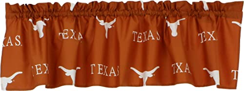 College Covers NCAA Curtain Valance, 84 x 15 , Texas Longhorns