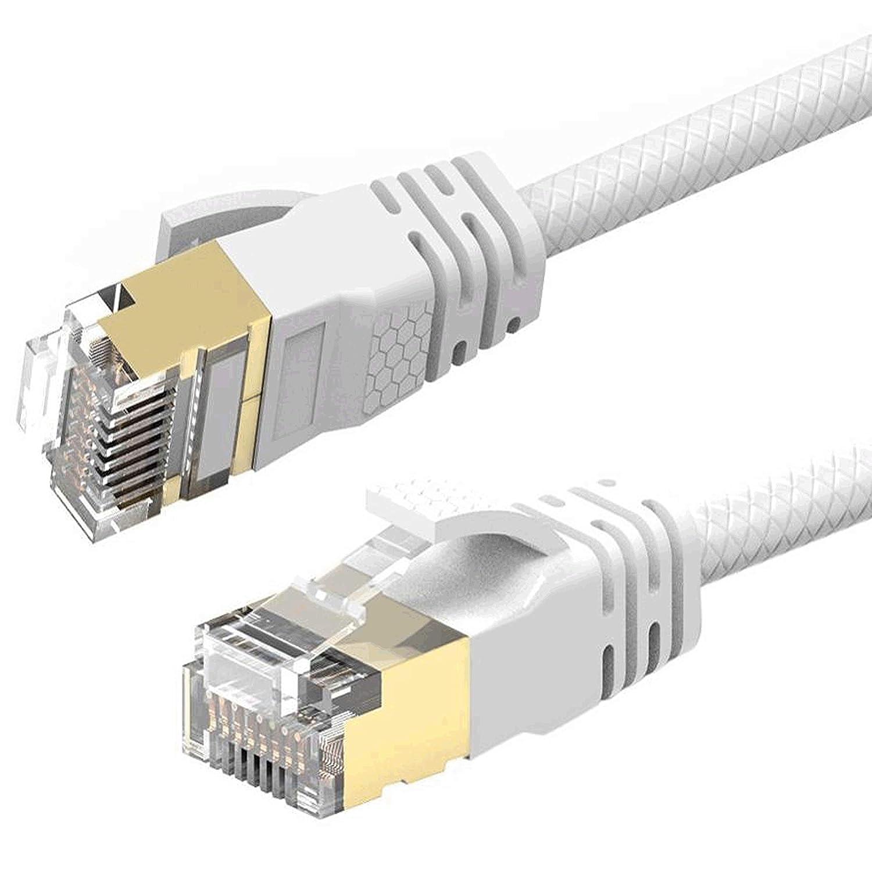 Reulin 8M Cat 7A C/âble de R/éseau Ethernet Ultra Mince Vitesse jusqu/à 40Gbs-1000MHz Compatible avec Cat5 Cat5e Cat6 CAT6a Cat7 Cat7A pour Routeur Modem Les R/éseaux /à Grande Vitesse