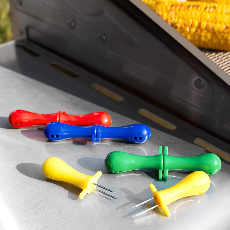 bremermann Lot de 4 Supports de Fer /à ma/ïs Multicolores en Acier Inoxydable
