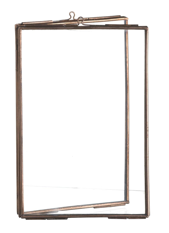 Foto-Rahmen Doppelseitige Glas- & Metall-Bilderhalter Freistehende ...