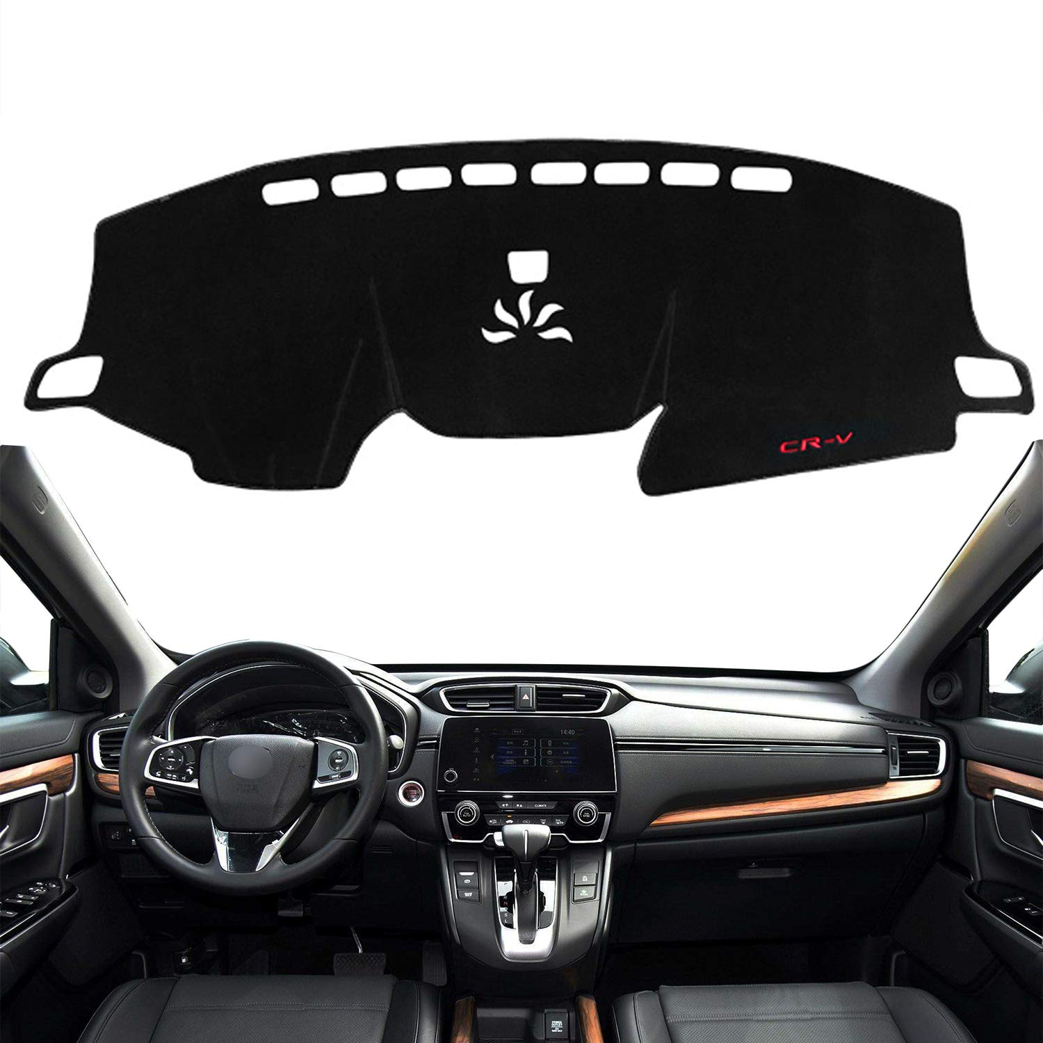 Autoxrun Dashboard Carpet Center Console Cover Dash Mat Protector Sunshield Cover Fits 2017 2018 Honda CRV