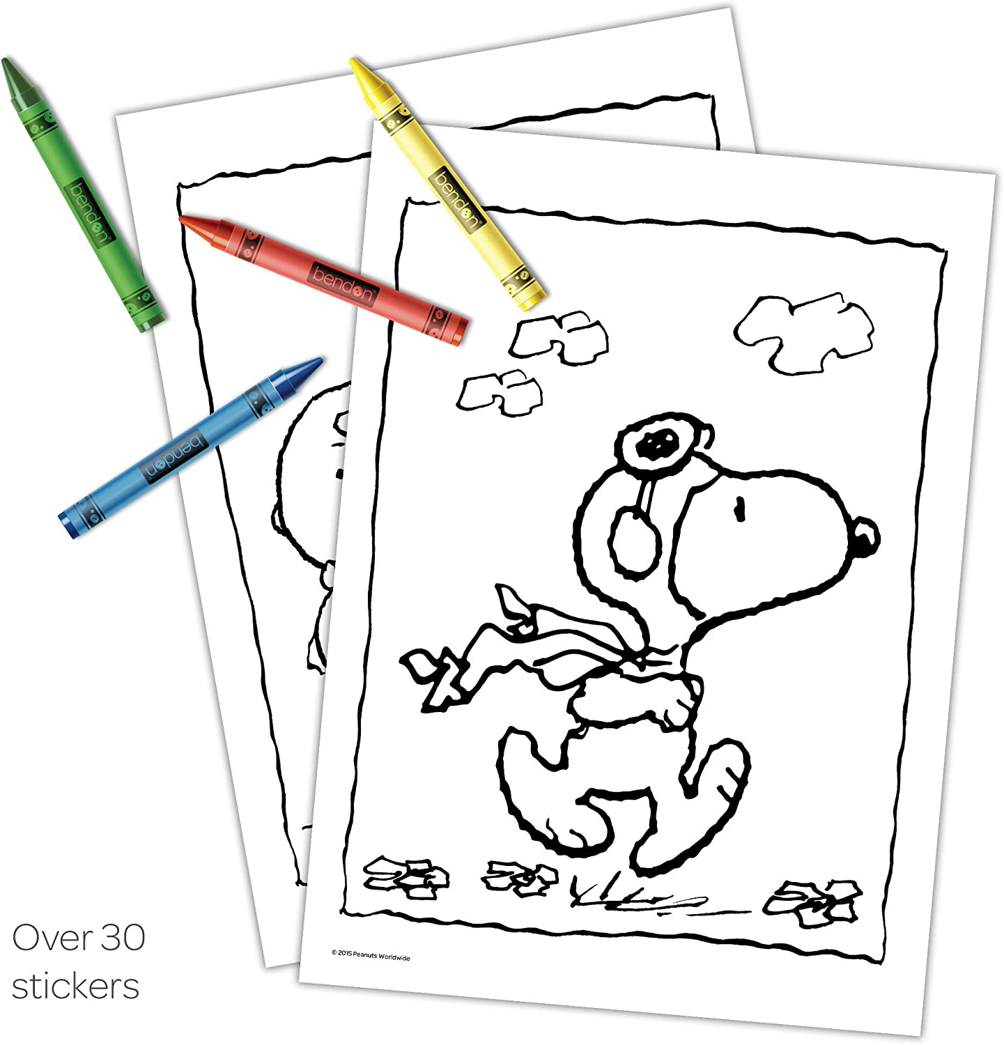 24-Count Bendon 42554-Amzb Peanuts 32-Page Coloring and Activity Book with Crayons Bendon Inc