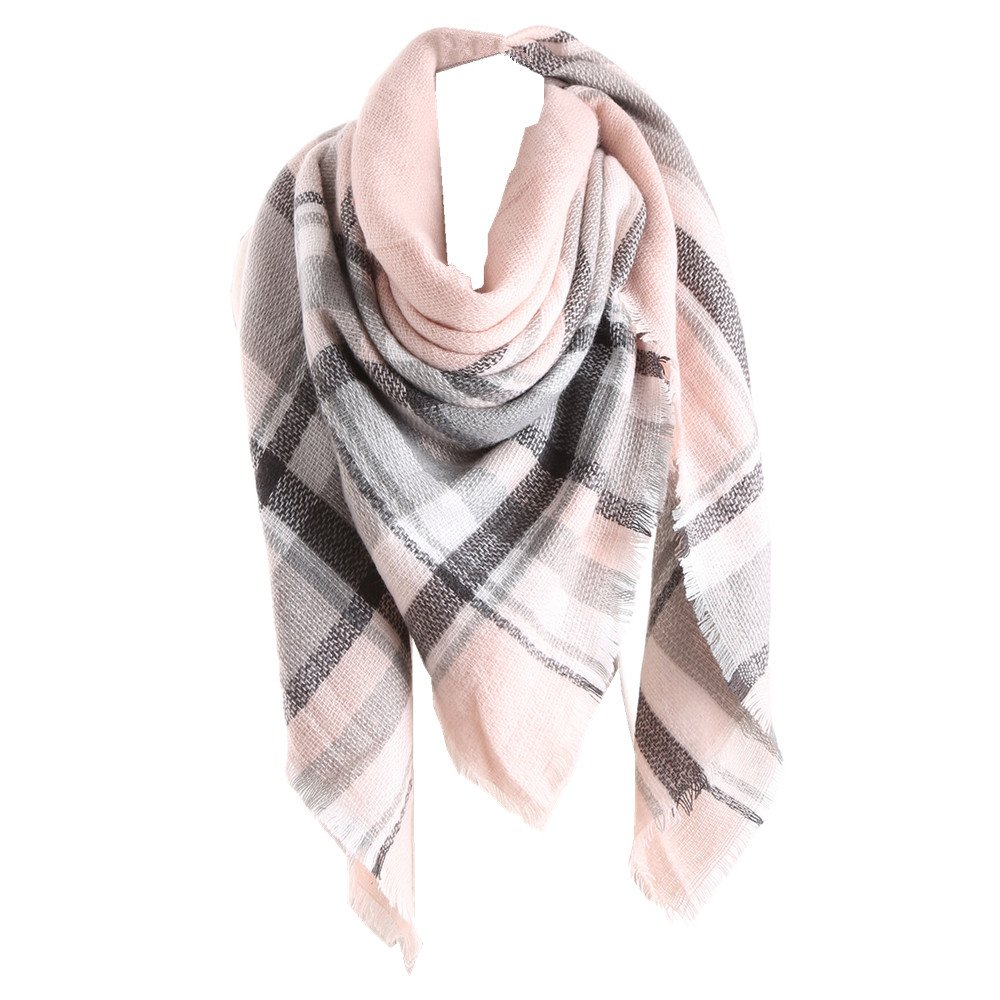 RACHAPE Women Elegant Warm Blanket Scarf Plaid Wrap Shawl Winter A918