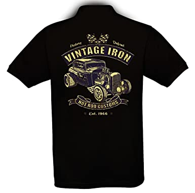 8cee394313cc Ethno Designs Hot Rod - Auto Motiv Oldschool - Vintage Rockabilly Retro  Style Polo Shirt für