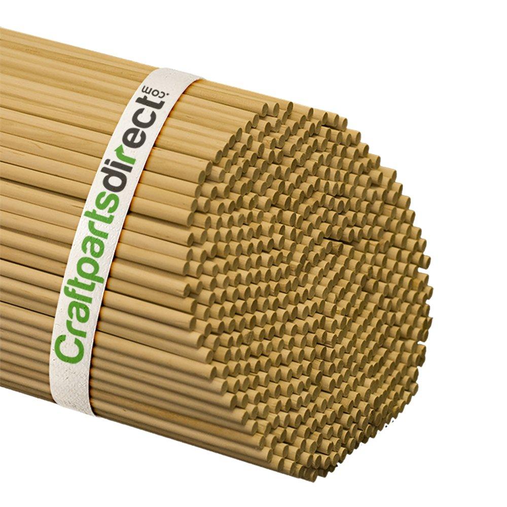 Wooden Dowel Rods - 1/4'' x 36'' Unfinished Hardwood Sticks - For Crafts and DIY'ers - Craftparts Direct - Bag of 1000