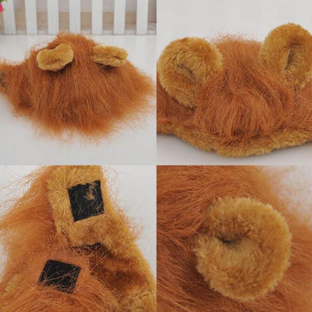GOOTRADES Pelz Pet Hat Kost/üm L/öwe M/ähne Per/ücke f/ür Katze Halloween Dress up mit Ohren Party