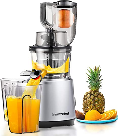 AMZCHEF Slow Masticating Juicer Cold