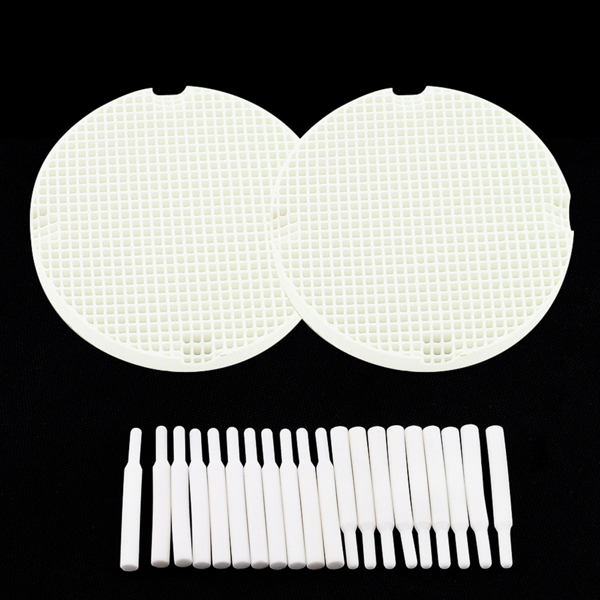 Fencia 2PCS Dental Lab Honeycomb Firing Trays With 40 Zirconia Pins Ceramic Pins