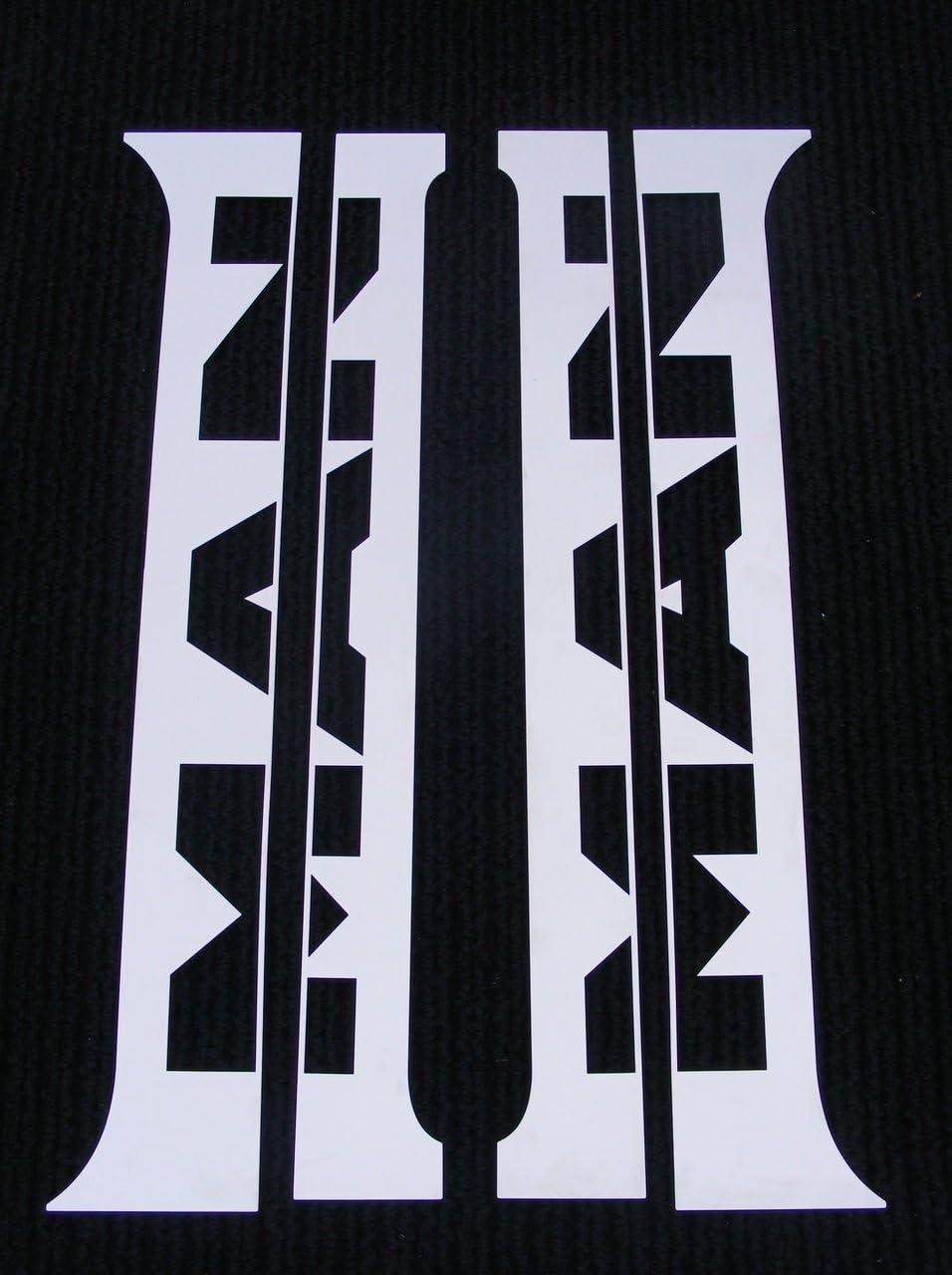 4/embellecedores para puertas de camiones MAN cromados acero inoxidable pulido TGA y TGX