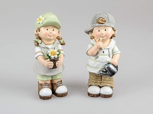 Small-Preis - Figuras de jardín para niños de Verano, con Paraguas, 29 cm de Alto, diseño de Pablo y Jule: Amazon.es: Jardín