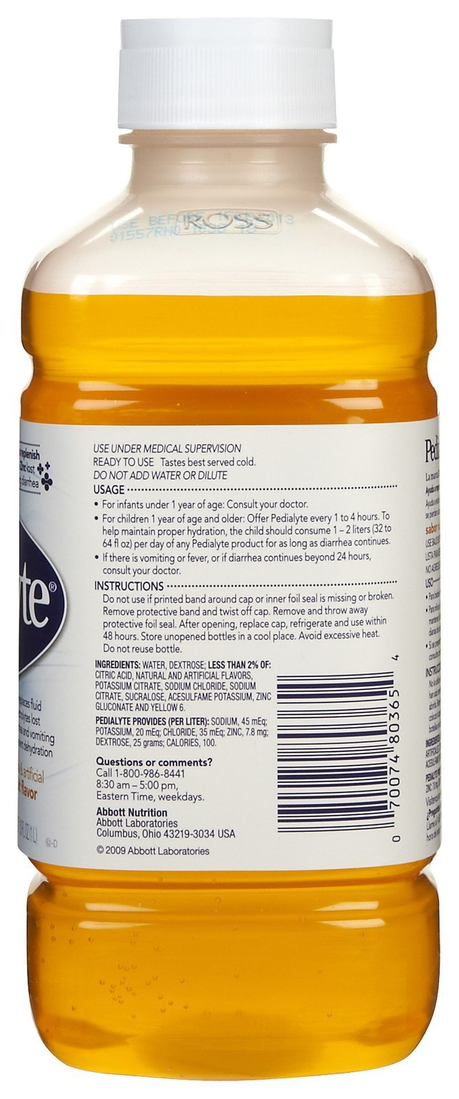 Pedialyte Oral Electrolyte Solution - Fruit - 1 lt - 2 pk by Pedialyte (Image #2)