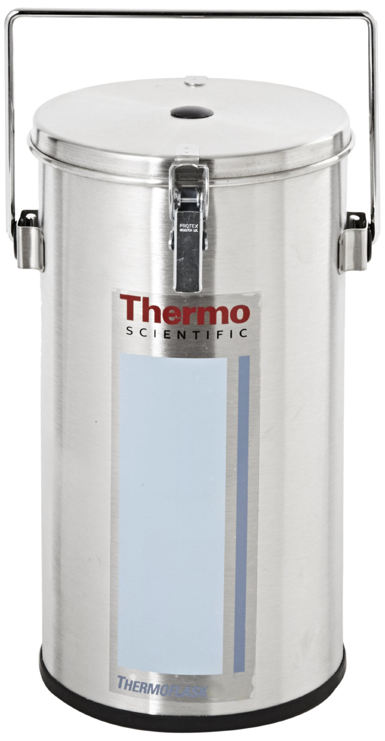 Thermo Scientific 2124 Stainless Steel 4.5L Wide Mouth Lab-Line Flask, with Lid and Handle