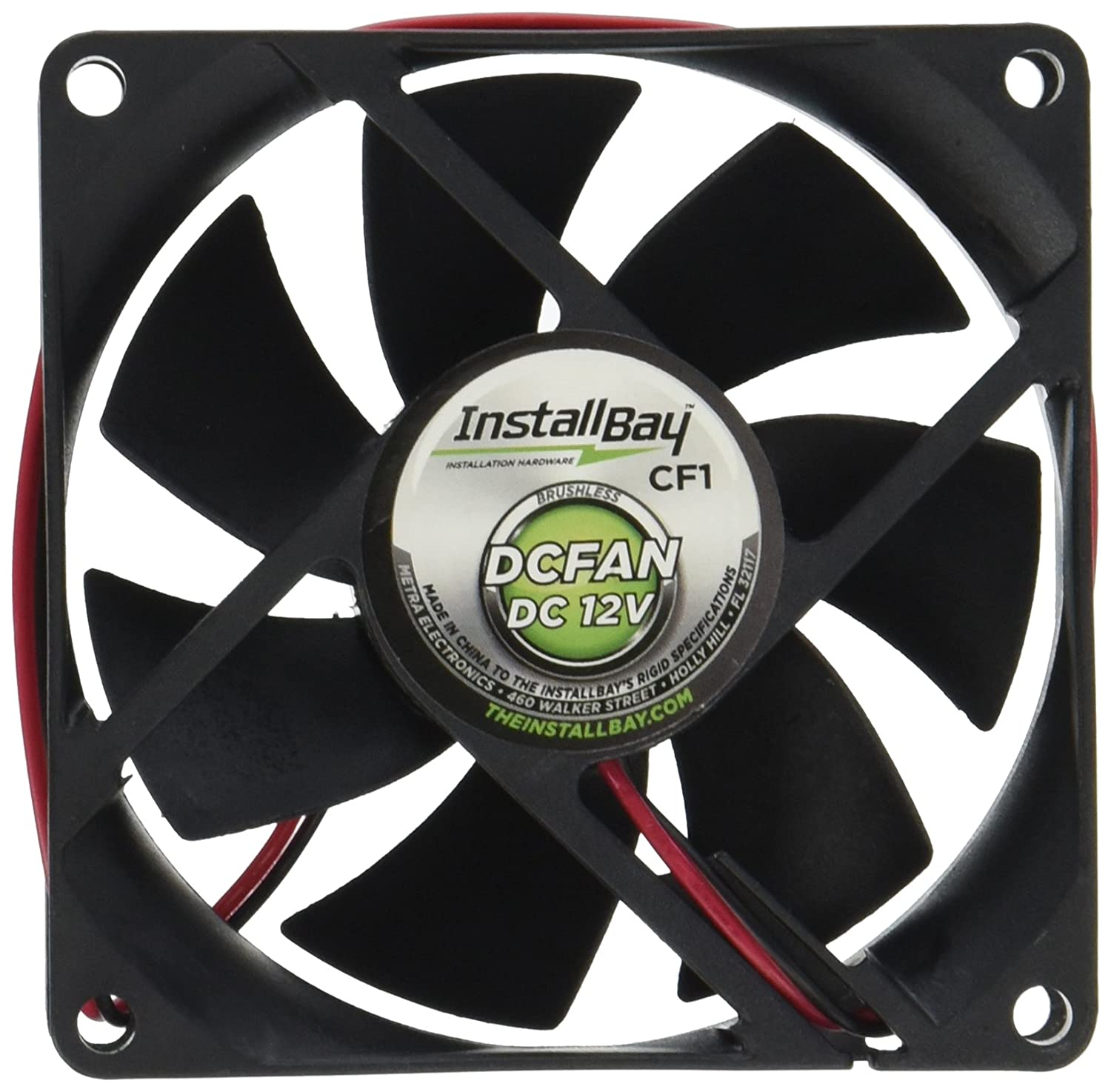 Install Bay CF1 Cooling Fan 12 Volt 3.1 Square-Inch By 1-Inch Deep Each Metra Electronics Corporation