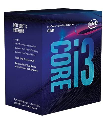 Intel Core i3 8300 - Procesador (3.7GHz, 8MB Cache, 1150MHz GPU,