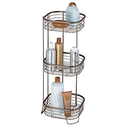 3 Layer Plastic Bathroom Shelf Storage Shelf Bath Room Floor Shampoo Rack Corner Shelf Towel Basket Home Garden Products Elegant And Sturdy Package Bathroom Shelves