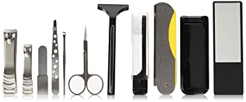 Vanity Planet Roam Personal Grooming Collection Kit For Men   Stainless Steel Tools Gift Set by Vanity Planet