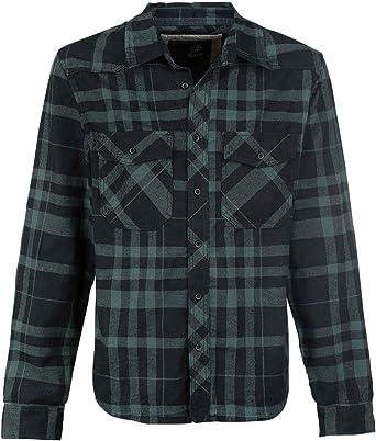 Brandit Camisa a Cuadros Hombre Manga Larga Negro-Verde M: Amazon.es: Ropa y accesorios