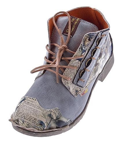 TMA, Desert Boots Femme - Noir - Schwarz Grau, 39 EU