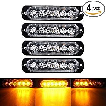 6 LEDs Car Truck Emergency Strobe Warning Flash Lamp Beacon Hazard 12//24V Lights