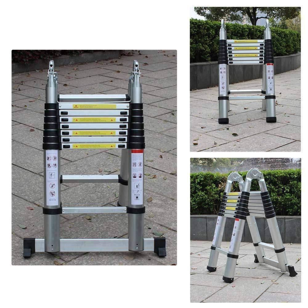 /échelle pliante multifonction YUWW /Échelle t/élescopique 5 m en aluminium de haute qualit/é design t/élescopique capacit/é de charge 150 kg