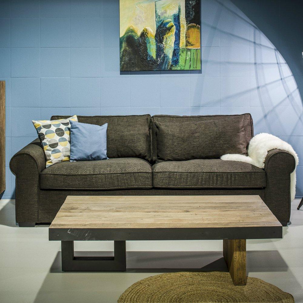 3 Sitzer Sofa WALLIS 240 cm Lounge Couch Garnitur Loungesofa Polstersofa braun