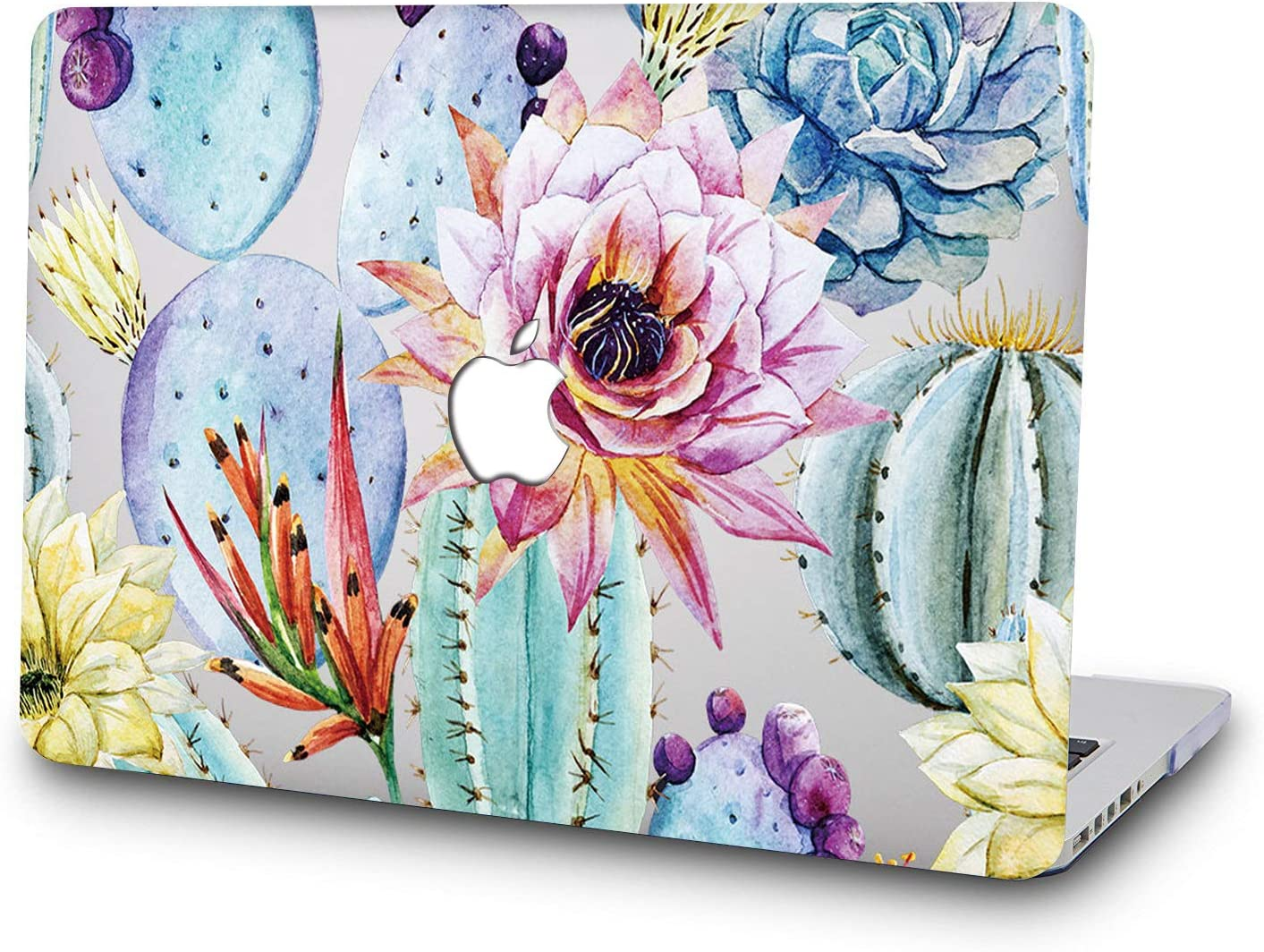 DTangLsm New MacBook Air 13 Inch Case Cover Shell for Model A 1932 with Touch ID and Retina Display Beautiful Cactus