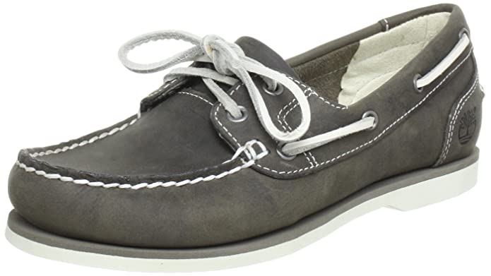 Timberland Classic Boat FTW EK Unlined Shoe 3945R, Damen, Grau (Warm Grey), EU 37 (US 6)