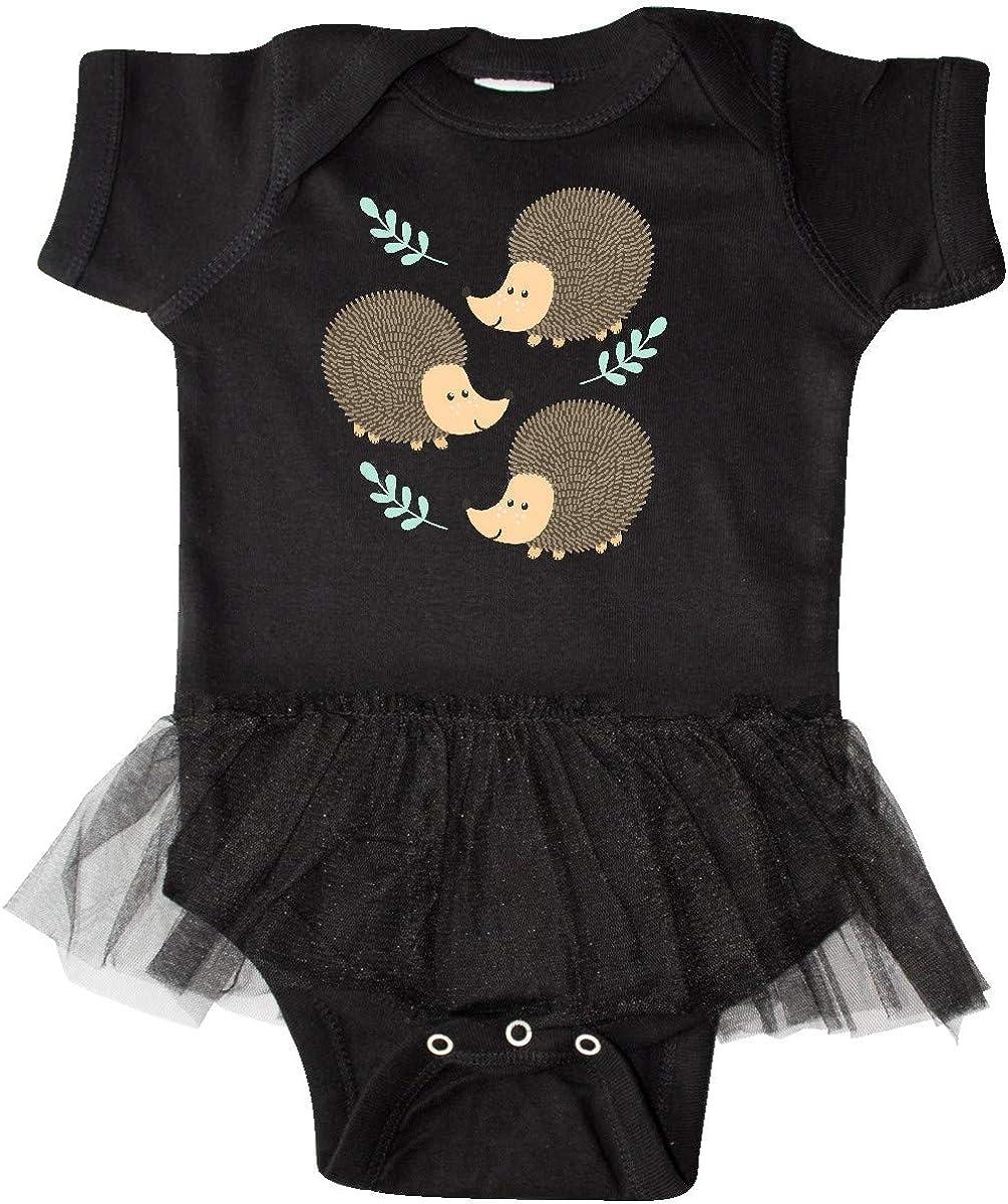 inktastic Hedgehog Gifts for Girls Infant Tutu Bodysuit