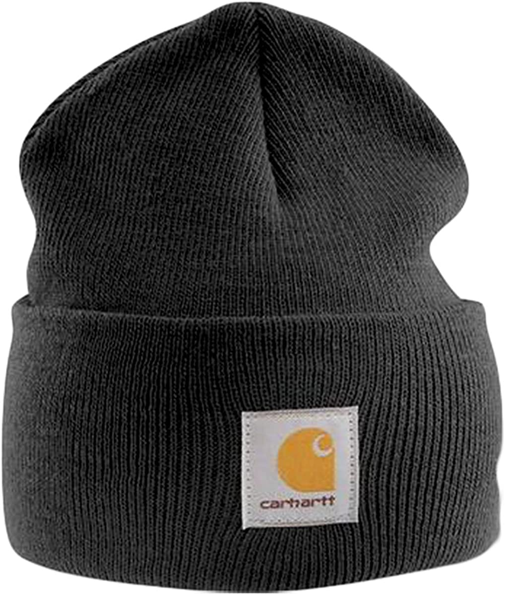 Carhartt Gorro Beanie Acrílico Negro A18BLK Sombrero: Amazon.es ...