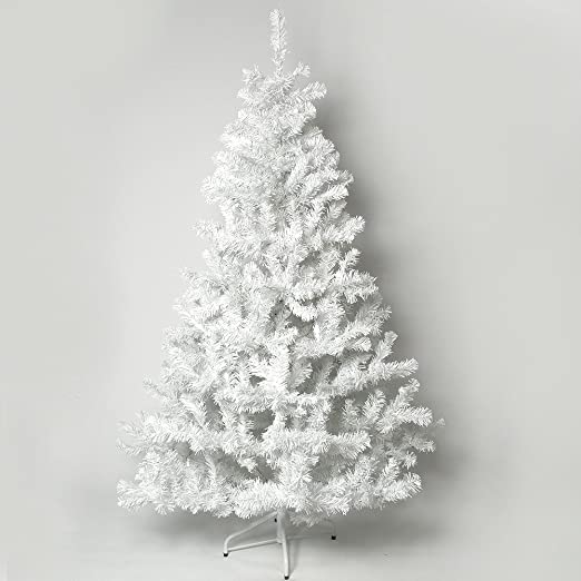 7Ft White Artificial Christmas Tree: Amazon.co.uk: Kitchen & Home