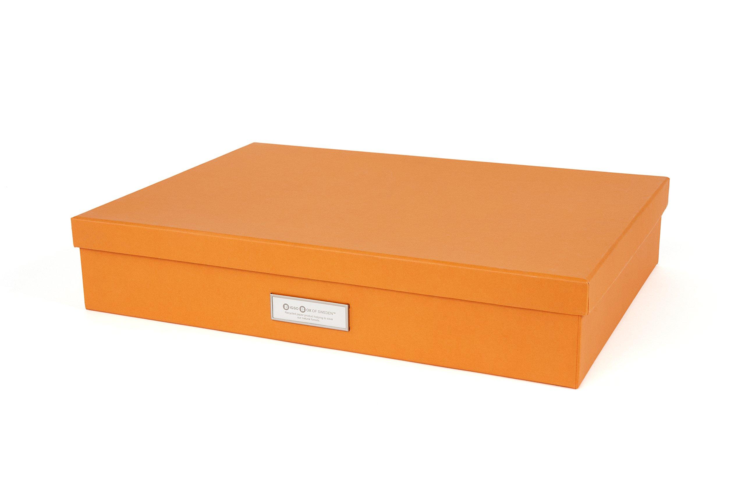 Bigso Sverker Document Storage Box, Orange by Bigso (Image #1)