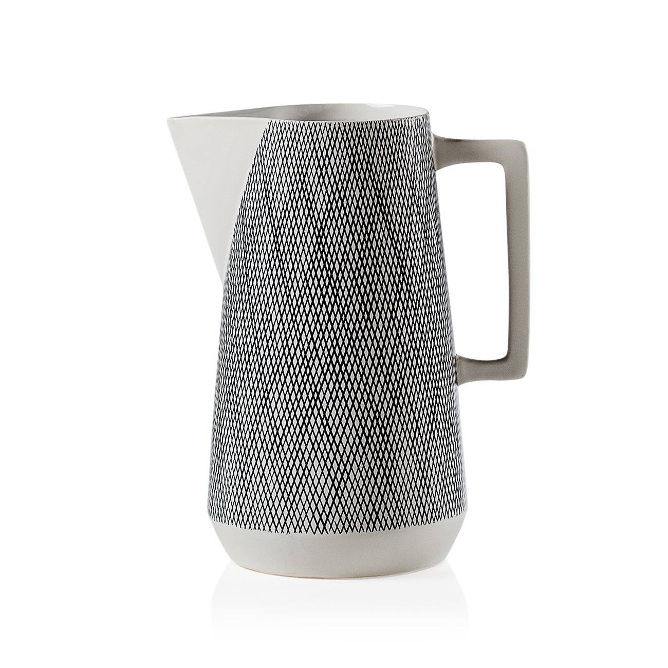 Torre & Tagus Bergen Weave White Ceramic Pitcher by Torre & Tagus
