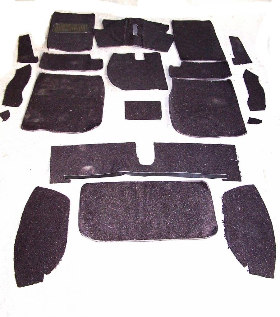 Newark Auto 68-77 Corvette Black Loop Replacement Carpet Kit With 20 Ounce Padding