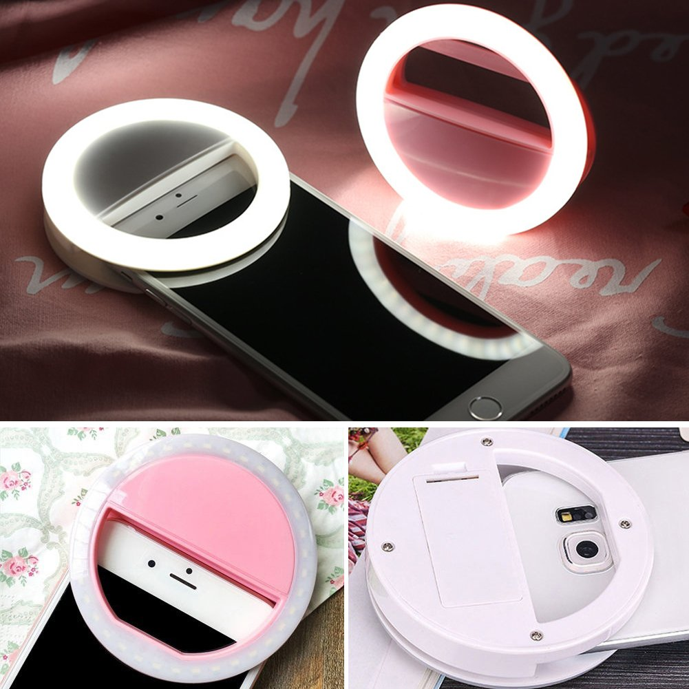 SuBoZhuLiuJ Mini Selfie LED Ring Light Clip Fill Light Ring Photography Self-Timer Artifact for iPhone Android Phone by SuBoZhuLiuJ (Image #2)