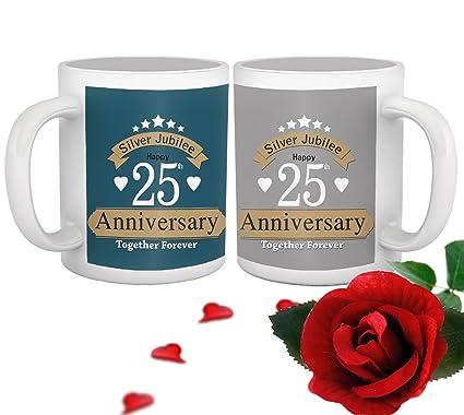 25Th Wedding Anniversary Gift | Buy Tied Ribbons Ceramic Jubilee 25th Wedding Anniversary Gift