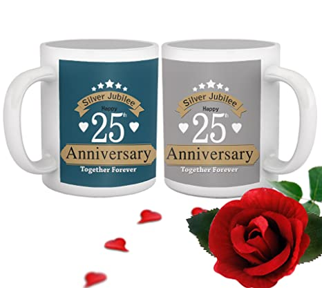 Buy Tied Ribbons Ceramic Jubilee 25th Wedding Anniversary Gift
