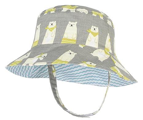 577e2731a7b GEMVIE Chapeau Bob Bébé - Chapeau de Soleil Bébé Enfant Fille Garçon  Unisexe en Coton Respirant