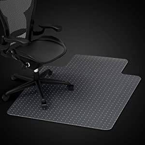 Azadx Home Office Chair Mat for Low, Standard and Medium Pile Carpeted Floors, Transparent Carpet Protector (30 x 48'' Lipped)