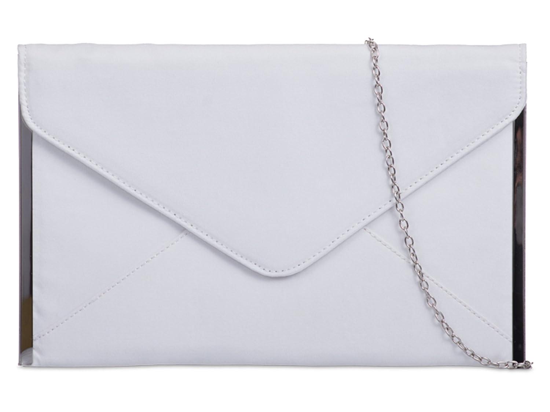 fi9/®/® Damen Clutch mehrfarbig grau