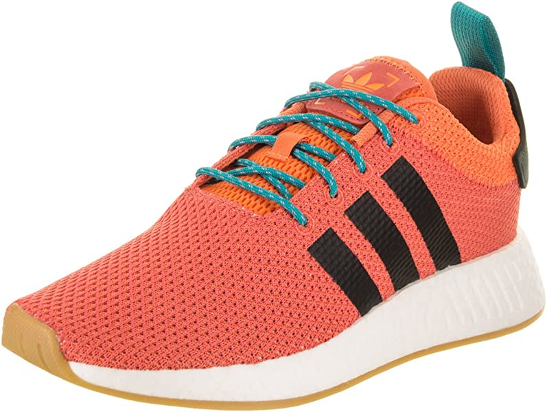 newest 328ea 2aa06 adidas Mens NMDR2 Summer Originals OrangeBlackWhite Running Shoe 11.5 Men  US