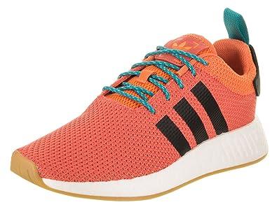 promo code sale high quality adidas Men's NMD_R2 Summer Originals Orange/Black/White Running Shoe 10 Men  US