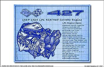 Amazon 1967 1969 427 435 l71 corvette engine blueprint series 1967 1969 427 435 l71 corvette engine blueprint series art print malvernweather Images