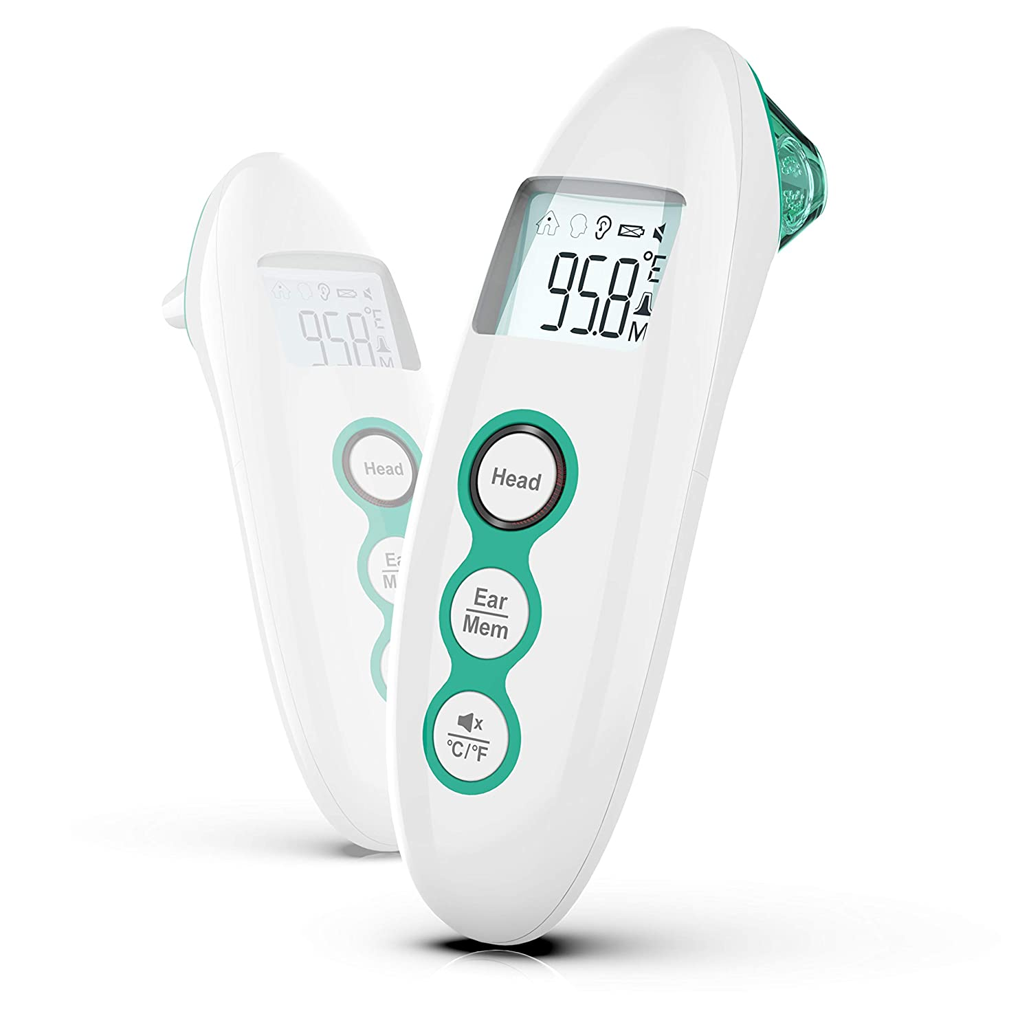 CIZA Forehead Ear Thermometer, Dual-mode Digital Infrared Medical Thermometer for Fever for Baby Kids Adults and Room Object, Accurate and Fast Instant Reading