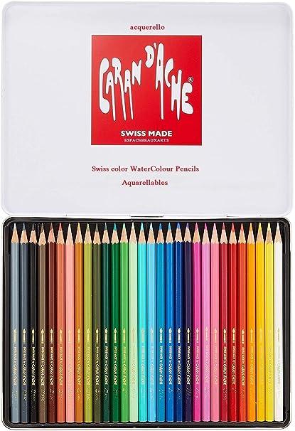 Caran Dache Swisscolor - Juego de lápices de colores en caja de ...