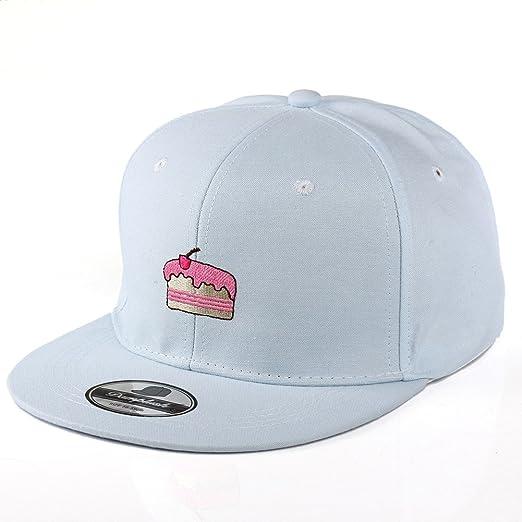 53c8835acec Jojobaby Women Embroidered Adjustable Light Baseball Caps Hats for Summer  Sun Protect Hat (Cake-