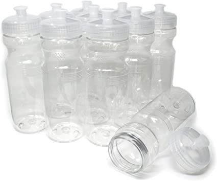 Dishwasher Safe Rolling Sands 20 Ounce Sports Water Bottles 24 Pack BPA-Free Made in USA