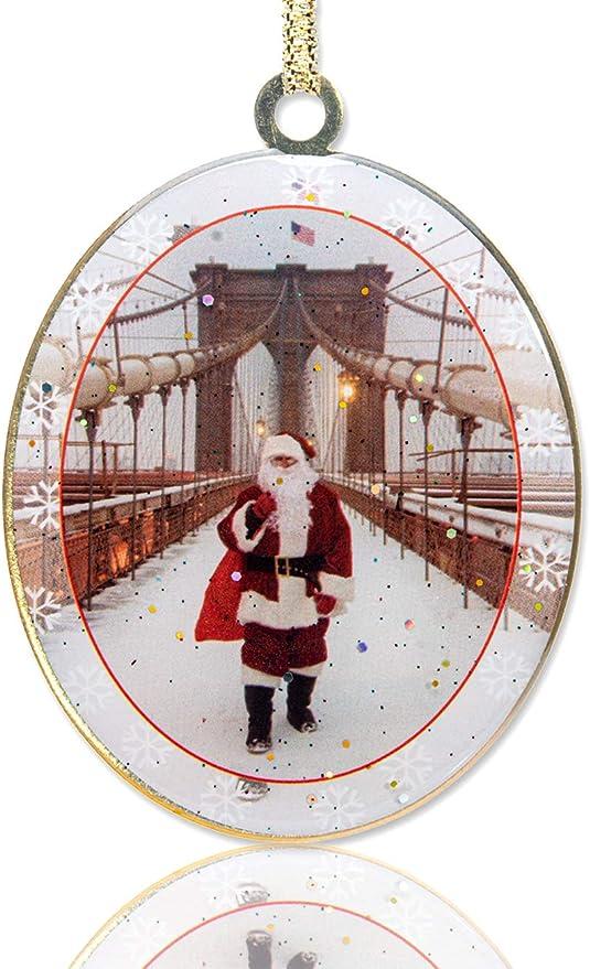New York City Bridge Glass Christmas ornament